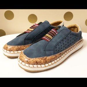 Shoes - Faux Suede Espadrille Style Flats